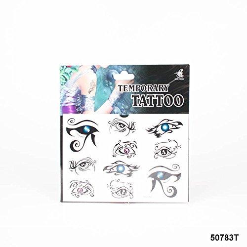 *Tattoos mit verschiedenen Augen, schön verziert mit (Make Up Temporäre Augen Tattoos)