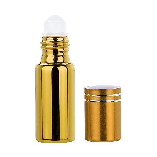Flacon Vide,5 ml Portable Vide Rechargeable Roll on Roller Ball Bouteilles en Verre Flacon pour Parfum Huile (E)