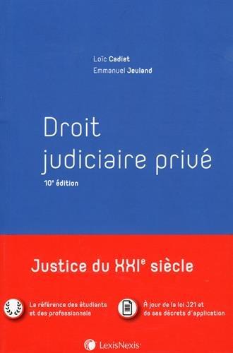 Droit judiciaire privé par Emmanuel Jeuland