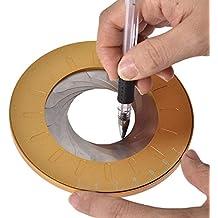 Feunet Herramienta de Dibujo de círculo Flexible, Herramienta de Dibujo de carpintería giratoria y Ajustable, compacta y Conveniente para diseñadores