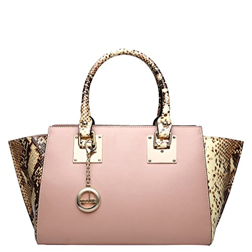 Femmina Moda Borsa Pelle Modello Di Coccodrillo Pacchetto Diagonale Pink