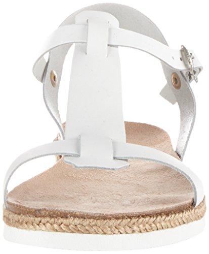 ESPRIT Damen Keita T-Strap Offene Sandalen Weiß (100 White)