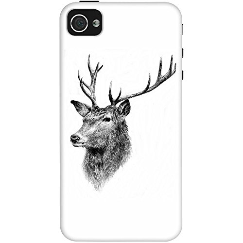 DailyObjects Deer Sketch Case For iPhone 4/4S