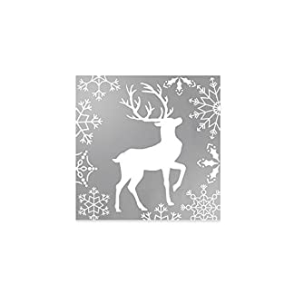 Servilletas de papel doradas decoradas con diseño de reno – Colección Navidad – 33 x 33 cm – 20 unidades