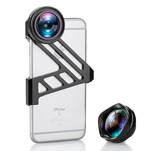 iPhone Kamera Objektiv, Fuleadture Clip-On 3X HD Handy Kamera Objektiv-Kits, 175 Grad Weitwinkel für iPhone 6 6s Smartphones
