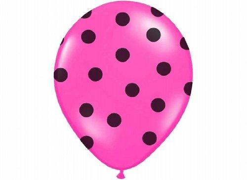 Globos de colour marrón oscuro Colour rosa con diseño de lunares 6 pcs 30 cm de diámetro aprox, de globos chimbomba