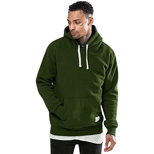 ITISME TOPS Männer Winter Fleece Pocket Hoodie warmes Sweatshirt Outwear Langarm Pullover Winter Warm halten