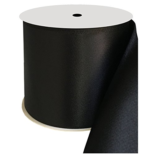 duoqu 7,6cm breit Double Face Satinband 10Meter Rolle mehrere Farben 3 inch wide and 10 yards length schwarz -