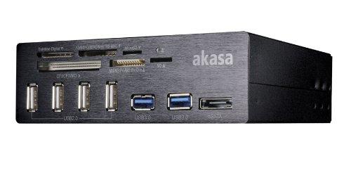 AKasa AK-HC-05BKV2 interne Kartenlesergerät (13,3 cm (5,25 Zoll), 6-Port, 2x USB 3.0) schwarz