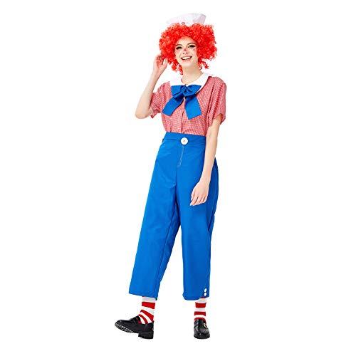 Story Sexy Toy Kostüm - FGDJTYYJ Halloween Cosplay Doll Set, weibliche Erwachsene spielerische Toy Story Spielen Bühnenkostüm (Top + Fliege + Hose + Hut + Perücke),L