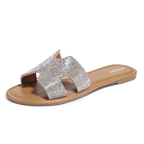 Sandalen Flach Glitzer - 19,99 €