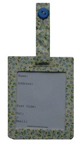 Bleu Mini Fleurs Valise bagages identité Sac Tag