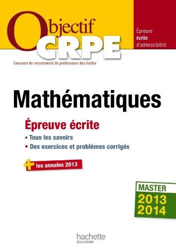 Objectif CRPE Épreuve écrite de mathématiques