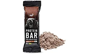 nu3 Protein Bar | 40% Protein with chocolate flavour | 12 x 50g high protein snack | 20g protein & only 0,8g sugar per bar| With creatin monohydrate from Creapure | Made of milk and whey protein