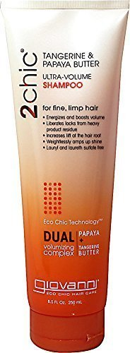 Giovanni 2Chic® Ultra-Volume Shampoo, Papaya & Tangerine Butter, 250ml