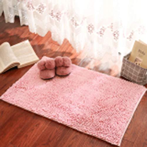OOFAY Einfarbig matt,Anti-Skiel-Teppich,Wasser absorbierende Bodenmatte,Pink,50 * 80 -