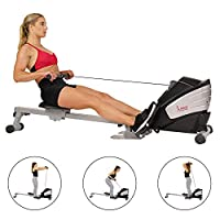 Sunny Health & Fitness Unisex Adult SF-RW5622 Dual Function Magnetic Rowing Machine - Silver, One Size