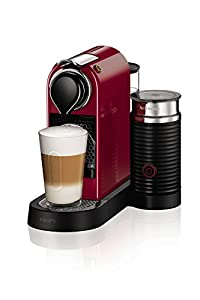 Nespresso by KRUPS XN760540 New Citiz and Milk Coffee Machine,- Cherry Red