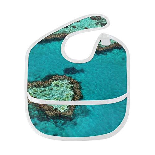 Australien Great Barrier Reef Coral weich wasserdicht waschbar Fleck und Geruch beständig Baby Fütterung Dribble Sabber Spucke Spucktücher für Kleinkind insgesamt für 6-24 Monate Kinder Geschenke -