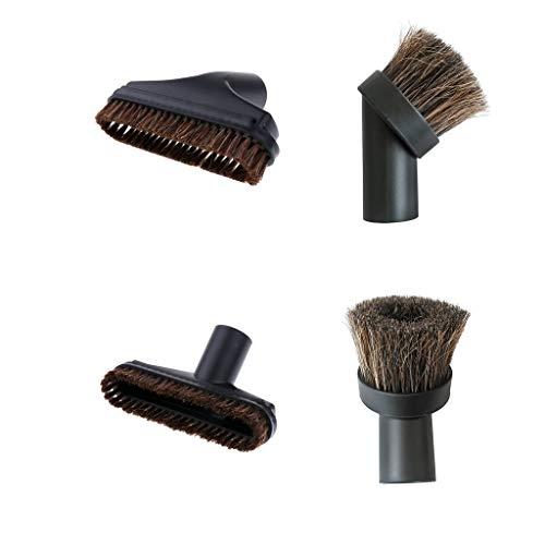 Baoblaze 4pcs Möbelpinsel Möbelbürste für Staubsauger - passend für die Durchmesser 32 mm -schwarz