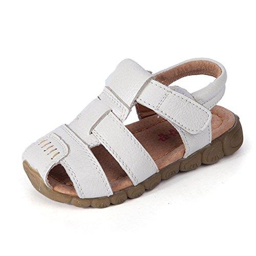 Eagsouni® Sandales Bout Fermé Mixte Enfant, Beach Sandales filles doux mode chaussure garçons sandales en cuir Blanc