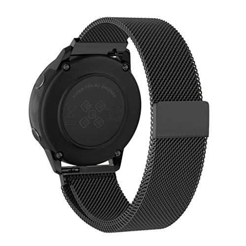 OverDose Boutique Uhrenarmbänder Ersatz Armband mit Edelstahl-Verschluss Magnetic Milanese Loop Strap Bracelet Band Kompatibel für Samsung Galaxy Watch Active