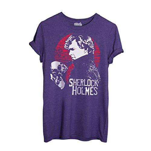 T-Shirt SHERLOCK TV SERIE - FILM by iMage Dress Your Style - Donna-S VIOLA MELANGE
