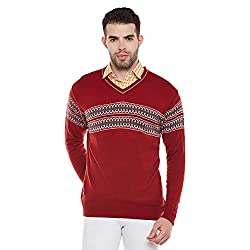 Duke Mens Polyester Sweater (Bbapldk36106_Xl_Red_X-Large)