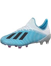 adidas Herren X 19.1 Fg Fußballschuhe, Argent/Rouge