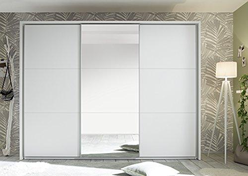 58–166–17bravo bianco opaco/armadietto armadio con ante scorrevoli armadio specchio: ca. 270cm