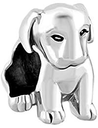 Bijoux uniqueen Labrador Chien Pet Animal Charms Perles vente bon marché pour bracelets de type Pandora/Troll/Chamilia Bracelet Charms