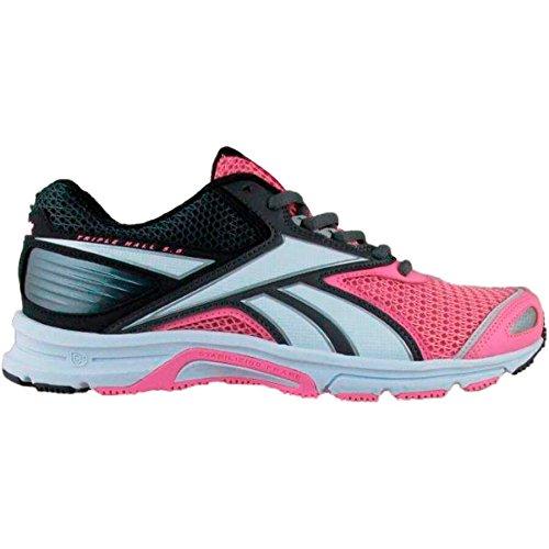 Reebok-Chaussures running Triplehall 5,0-Femme Rosa / Gris / Negro (Icono Pink / Ash Grey / Coal)