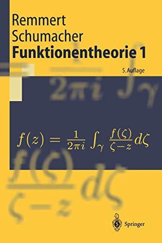 Funktionentheorie 1 (Springer-Lehrbuch)