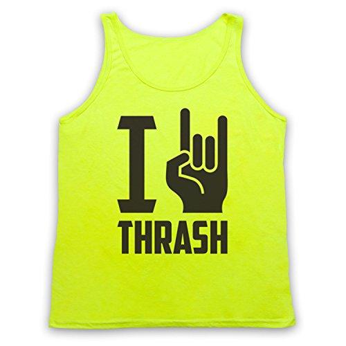 I Love Thrash Metal Tank-Top Weste Neon Gelb