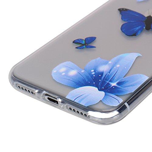 2 x iPhone X Schutzhülle, Rosa Schleife iPhone 10 Ultra Dünn TPU Backcover Weiche Silikon Cases Cover Marmor Hülle Kratzfest Handyhülle Schale Bumper für iPhone X / 10 2 Stück - 2