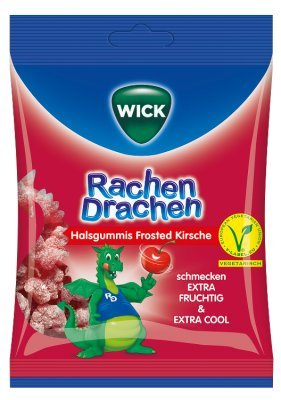 WICK WICK RachenDrachen Halsgummis Kirsche – 75 g Bonbons 12646061