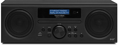 TechniSat DigitRadio 350 CD Digitalradio (10 Watt RMS, DAB+, DAB, PLL-UKW Tuner, CD/MP3 Player, USB) schwarz