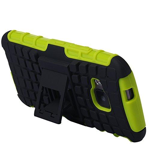 tinxi® Coque en métal contre choc + couverture arrière PC amovible pour Apple iPhone 6s Plus/6 Plus 5.5 pouces coque case cover étui housse argent noir et cadre vert