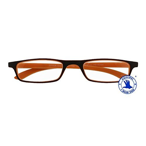 I NEED YOU Lesebrille Zipper Selection SPH: 1.00 Farbe: braun-orange, 1 Stück