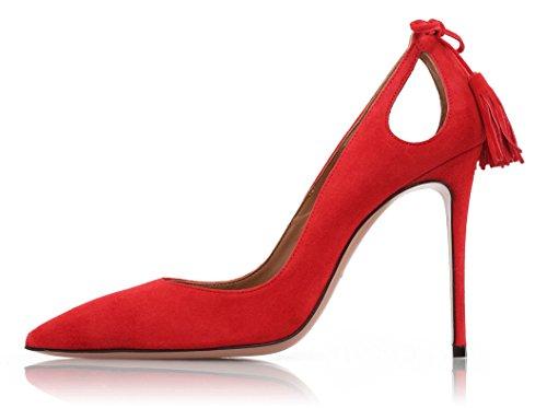Stiletti Delle Dimensioni Nappa Grandi Messo Scarpe Donne A Rosso Ubeauty Spillo Alti Scarpe Tacchi z7qxtqZ