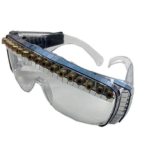 guanti laser DZZ Guanti occhiali laser laser led vestiti luminosi spettacolo teatrale discoteca bar artefatto puntelli cantante performance-15 occhi