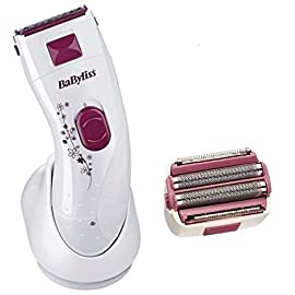 BaByliss Ladies Wet and Dry Rechargeable Portable Lady Shaver Hair Remover Shaving System - 41ktFbGx5RL - BaByliss® Ladies Wet and Dry Rechargeable Portable Lady Shaver Hair Remover Shaving System