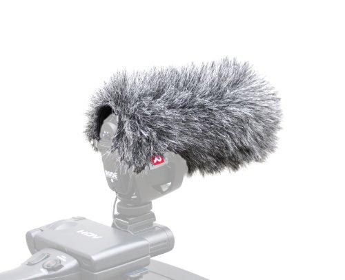Rycote Antivento in Pelo per Microfono Rode Video Mic Pro, Grigio