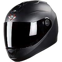 Steelbird SBH-11 7Wings Full Face Helmet (Medium 580 MM, Dashing Black)