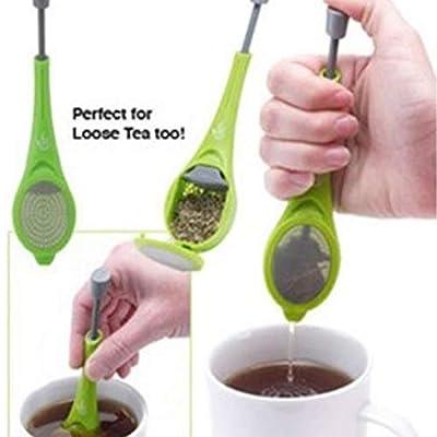 Infuseur à thé réutilisable en plastique intégré - Sachets de thé - Sachets de thé - Sachets de thé - Mélangez et pressez