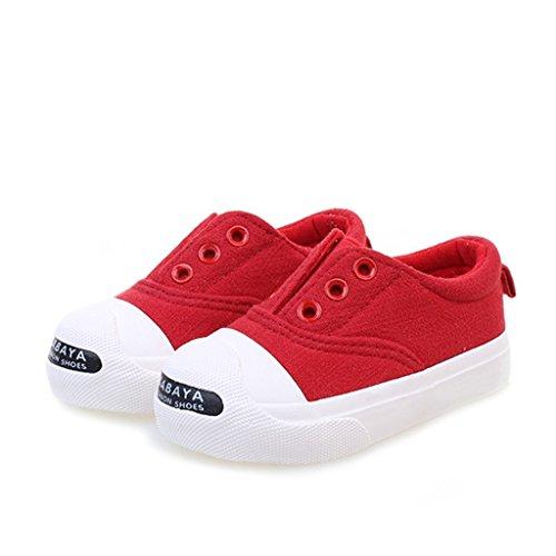 ALUK- Baby Schuhe - Kinder Segeltuchschuhe Lernen Sie Lazy Schuhe ( Farbe : Rot , größe : 27 ) Rot