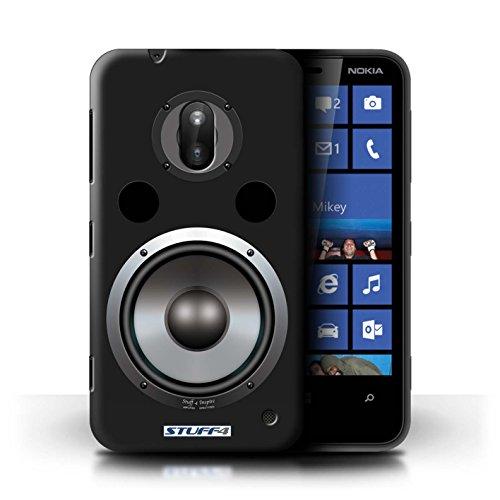 Kobalt® Imprimé Etui / Coque pour Nokia Lumia 620 / Hifi conception / Série Haut-Parleur dessin Hifi