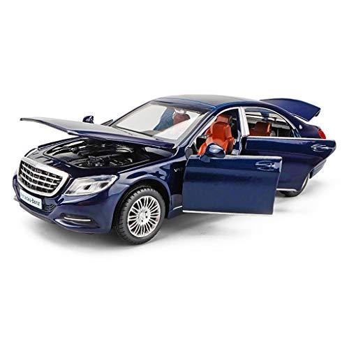 SXET-Modellauto Modellauto Mercedes-Benz Modell Maybach S600 Auto Modell Simulation Kinderlegierung Modell Kinder Spielzeugauto Sammlung Modell (Farbe : Blau)