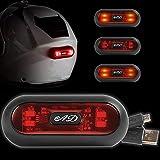 AD Eclairage à LED Rechargeable par USB pour Casque Moto - Scooter Velo VTT Trottinette, Casque de Chantier, Clignotant Moto