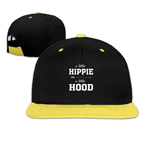 A Little Hippie A Little Hood Boys and Girl Hip Hop Baseball Hats Yellow -